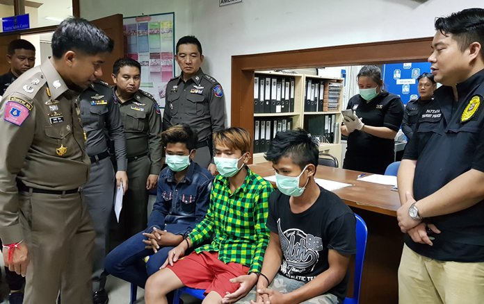 Three Cambodians who allegedly pickpocketed a Russian tourist on Koh Larn were among the 52 people arrested in a crime sweep launched by Special Branch police in Pattaya.