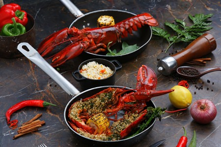 Delicious Canadian lobster dishes at Oasis.