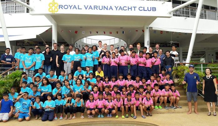 The Lufthansa Group treated more than 100 children underprivileged children to a day of fun in the sun at the Royal Varuna Yacht Club.