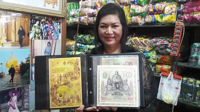 Throughout her life Maleewan said she collected items honoring the King, including coins, bank notes, photos and book sets.
