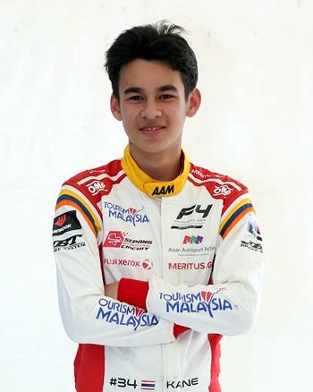 Pattaya race driver Kane Shepherd.