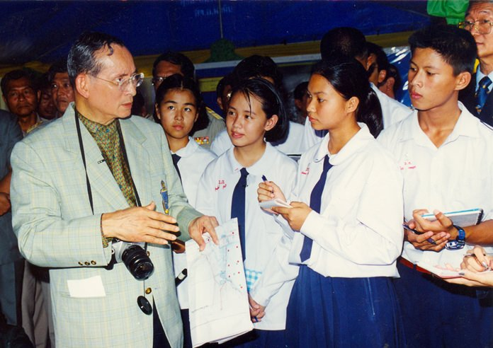 """The Cabinet on 21 November 2006 approved a proposal by the National Research Council of Thailand to present His Majesty King Bhumibol with the title """"Father of Thai Invention."""" The decision was meant to honor His Majesty and encourage Thai people to follow in his footsteps. It was also intended to urge young people to create social capital in terms of inventions and to promote cooperation among inventors."""