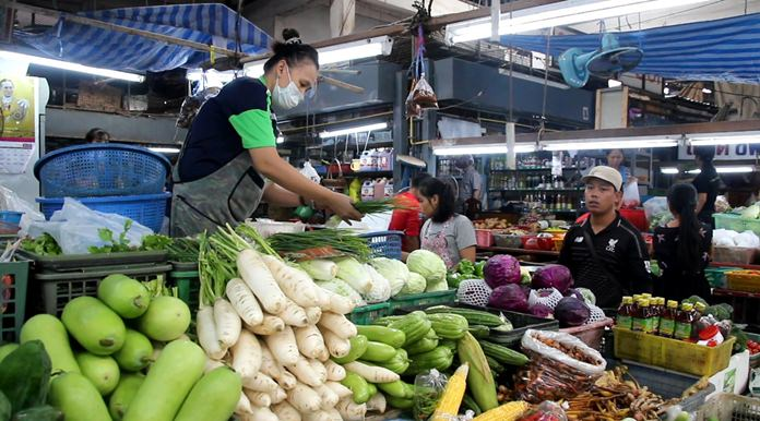 Vendors, such as those at Wat Chaimongkol Market, report business remains strong, as do area vegetarian restaurants.