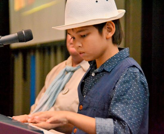 """Ben Rudolf plays """"The Grand March"""" by Verdi before launching into his own composition, """"Events in Life"""". Ben, who is now 10 years of age, has been composing his own music since he was four. Visit Ben's YouTube channel at https://www.youtube .com/channel/UCwQ_H0S7zbzWYoWAJZPozew."""