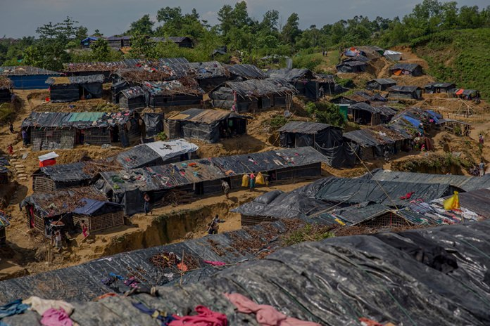The Balukhali refugee camp in Cox's Bazar, Bangladesh is shown in this Sept. 26, 2017 file photo. (AP Photo/Dar Yasin)