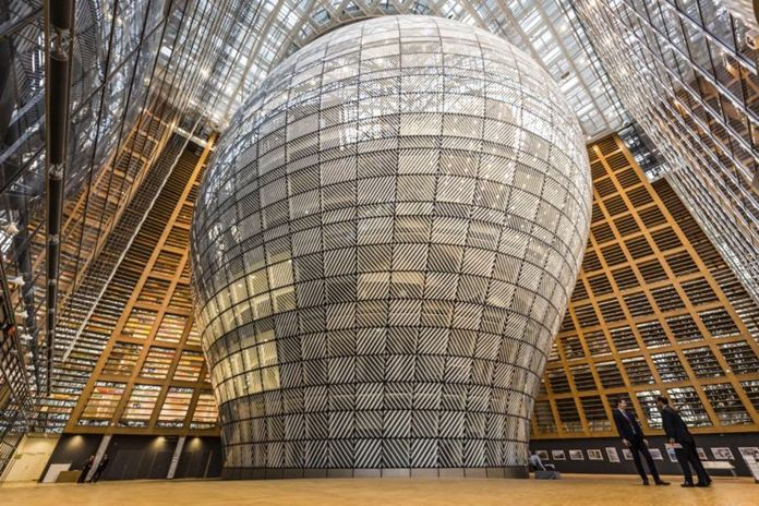 The interior of the Europa building in Brussels is shown in this Dec. 9, 2016 file photo, (AP Photo/Geert Vanden Wijngaert)