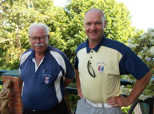 Anders Pedersen (right) with Dave Richardson.
