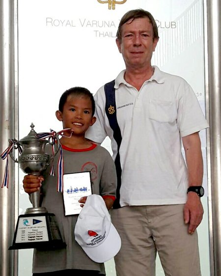 Panwa Boonnak took first place in the Optimist class.