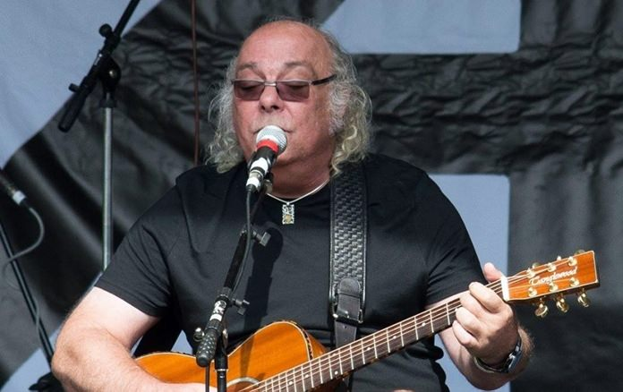 Edgar Broughton performs at the New Day Festival in Kent, southern England.