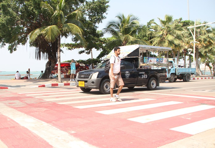 Launched in 2010, the 29-million-baht project was billed as a way to improve safety for tourists and bring order to Pattaya's crazy streets, but the pedestrian-crossing signals have been all but ignored by drivers who simply blow through red lights.