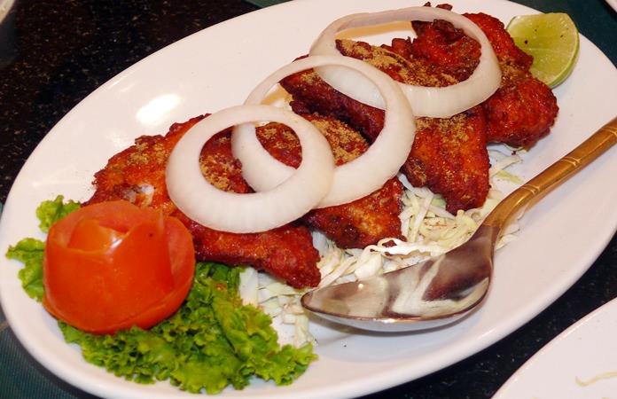 The crunchy Amritsari fish.