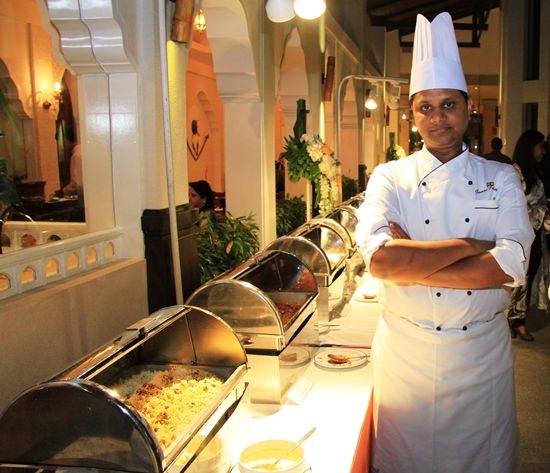 Chef Gaurav Pandey displays his Punjabi creations.