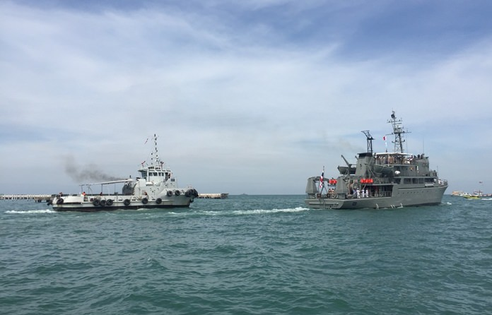 The Royal Thai Navy practices its response to emergencies while preparing Pattaya Bay to host ships from dozens of foreign countries. The RTN is hosting the International Fleet Review 2017 in and around Pattaya Bay to mark ASEAN's 50th anniversary since its founding. As of Nov. 13, 26 modern warships and 10,000 crew members and representatives from 40 countries were expected to join the historic fleet showcase in Pattaya Bay from 13 - 22 November.