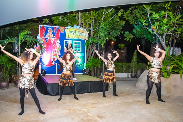 Guests were entertained throughout the night with dance shows, singing and more by the Centara Mirage staff.