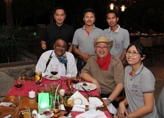 The Pattaya Mail team were thrilled to have Andre Brulhart sit at their table.