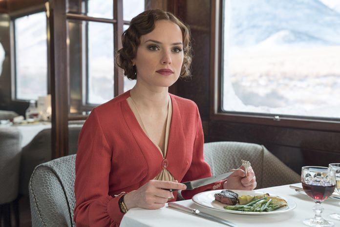 "This image shows Daisy Ridley in a scene from ""Murder on the Orient Express."" (Nicola Dove/Twentieth Century Fox via AP)"