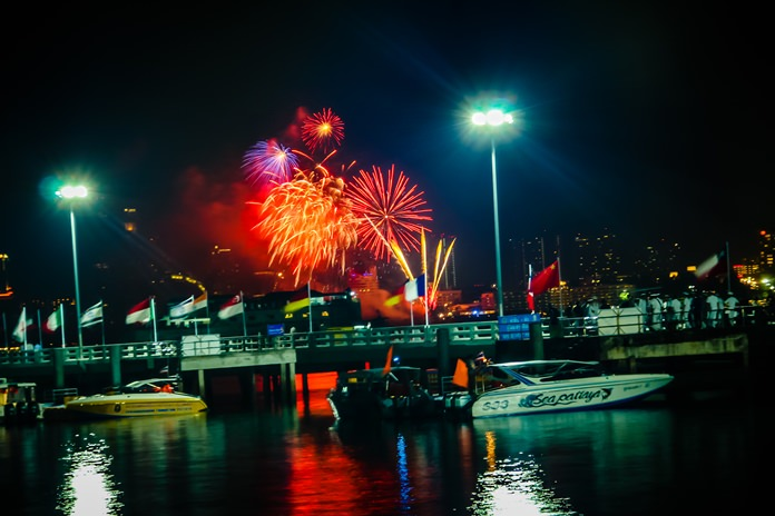 The day was capped by a spectacular, but short, fireworks display.