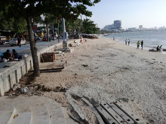 Boats and vendors were cleared off Pattaya Beach for the International Fleet Review.
