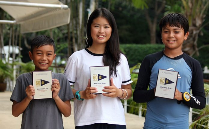 Chalisa (centre) was the winner of the Optimist class.