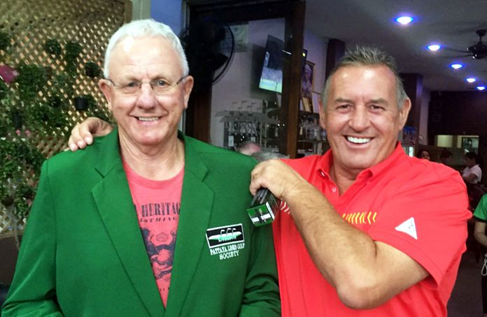 Eric Black (left) with Phil Davies.
