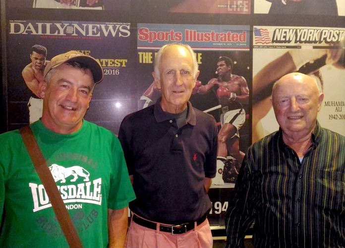 From left, Bob Comartin, Gil Phillips and David Phillips.