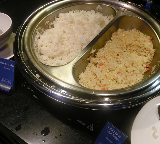 Two styles of rice.
