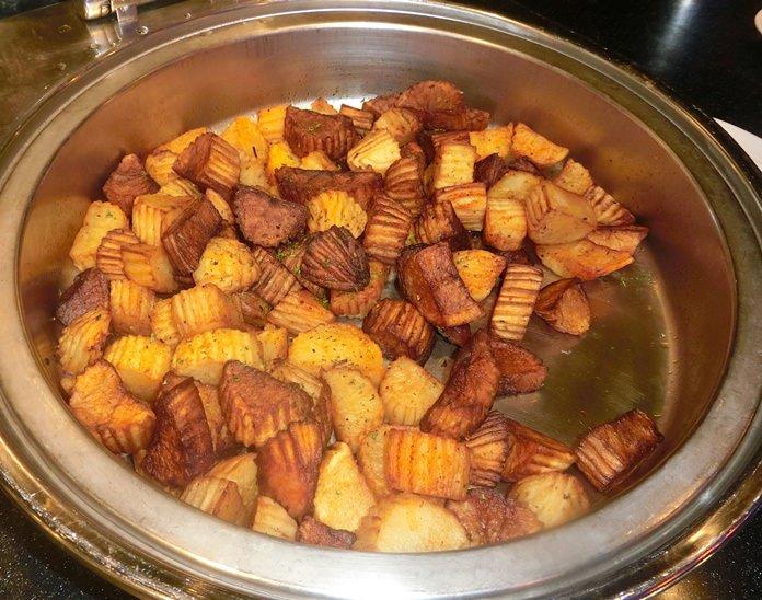 Roast potatoes with Rosemary.