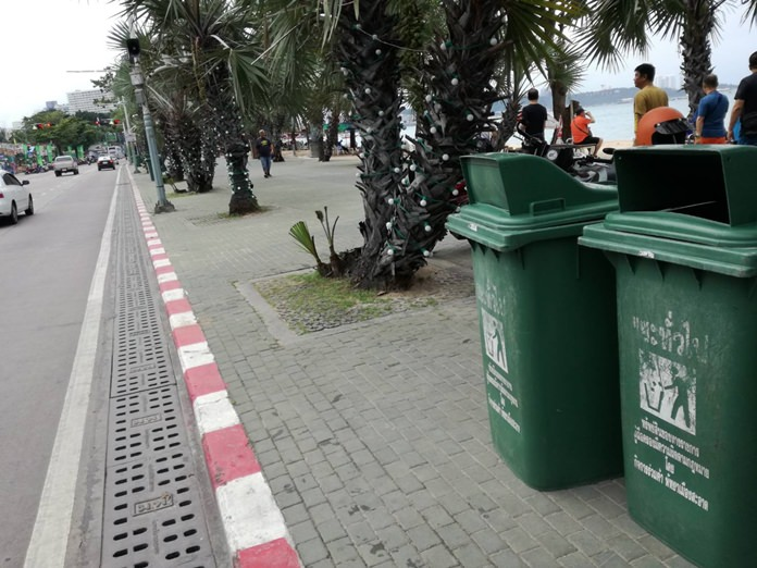 City officials have restored the rubbish and recycling bins in time for the highest of high season.