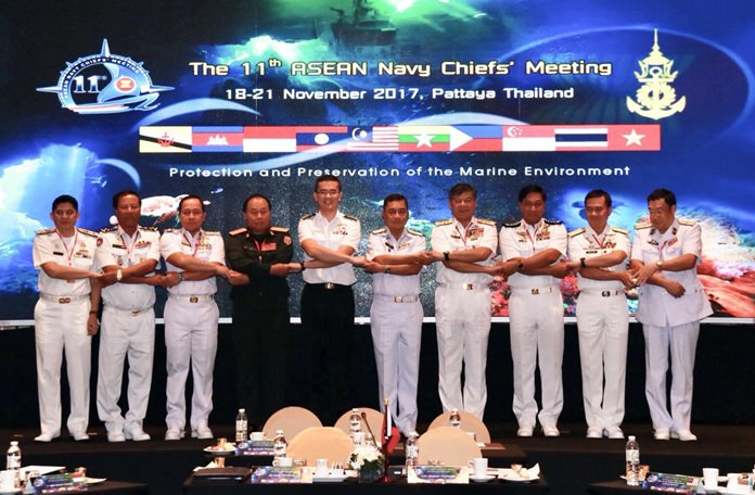 Protection and preservation of the marine environment was the main topic when the Royal Thai Navy hosted the 11th ASEAN Navy Chiefs' Meeting.