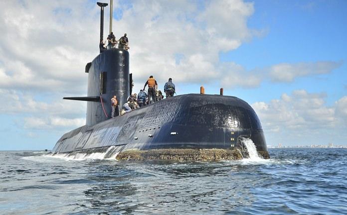 This undated photo shows the ARA San Juan submarine near Buenos Aires in Argentina. (Argentina Navy via AP )