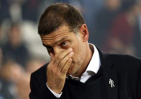 Sacked West Ham's manager Slaven Bilic is shown in this Monday, Sept. 11, 2017 file photo. (AP Photo/Frank Augstein)