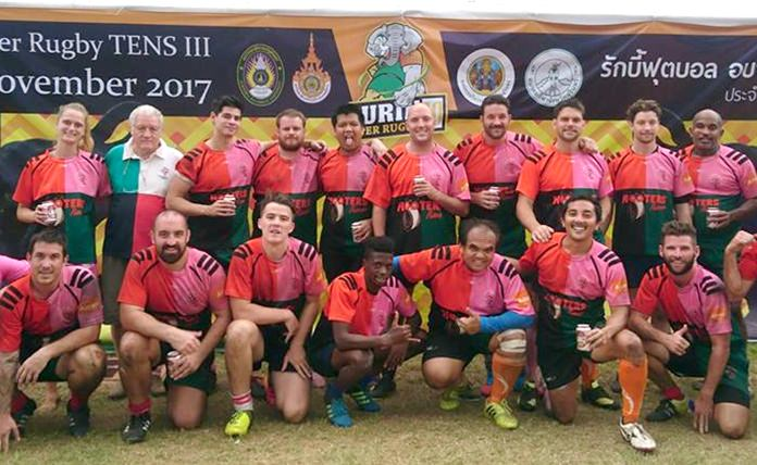 Pattaya Panthers pose for a team photo in Surin.