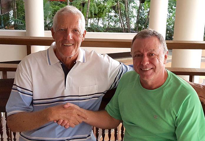 Gordon Clegg (left) with Tom Herrington.