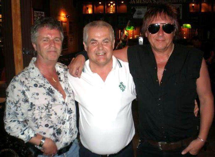 Mott the Dog (centre) with Casino Steel and Honest John Plain at Jameson's The Irish Pub in Pattaya.