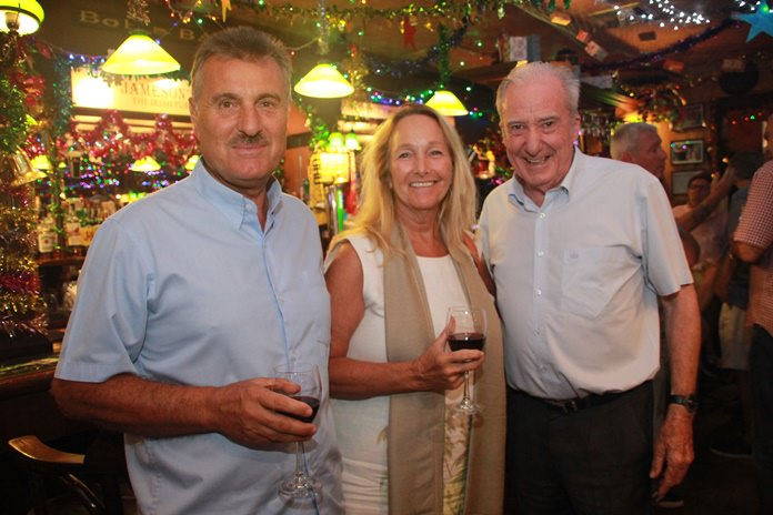 Mike and Rosanne Diamente with Dr Iain Corness planning the future and sponsorships for the Gerry@Rix racing team perhaps?