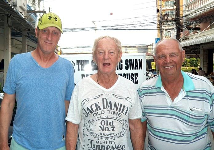 From left, Bill Steinmann, John Coetzee and Alex Field.