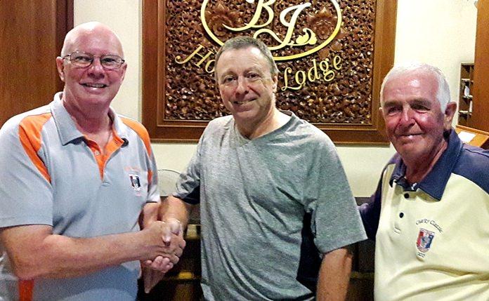 Brian Parish (left) with Tom Herrington (centre) and Dave Cooper.
