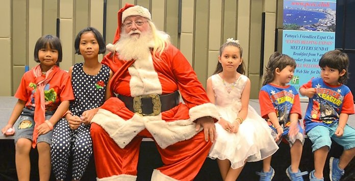 Santa also took time to greet several children from the audience and wish them a Merry Christmas.
