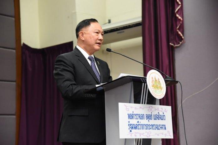 Labor Minister, Pol Gen Adul Saengsingkaew.