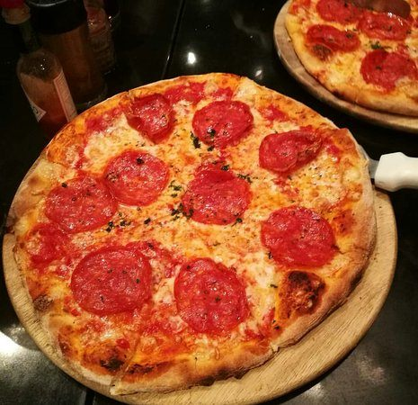 Try the pepperoni pizza at Fire and Stone.
