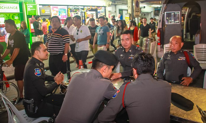 Police and volunteers remain at hand at all times to ensure safety around populated areas.