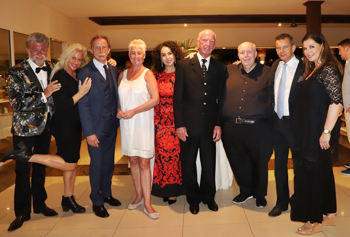 Well-known personalities from Germany were also at the party. (l-r) Christof R. Sage, Angelica Camm-Daum, Christoph Daum, Maxi Bleyle, Anselma and Gerrit Niehaus, Reiner Calmund, Rudolf Hofer and Bärbel Sage.