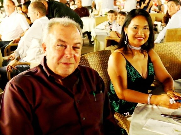 General Manager Rene Pisters with wife Ploy enjoying the party.