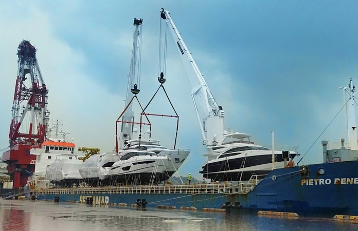 The largest yacht unloading in Southeast Asia.