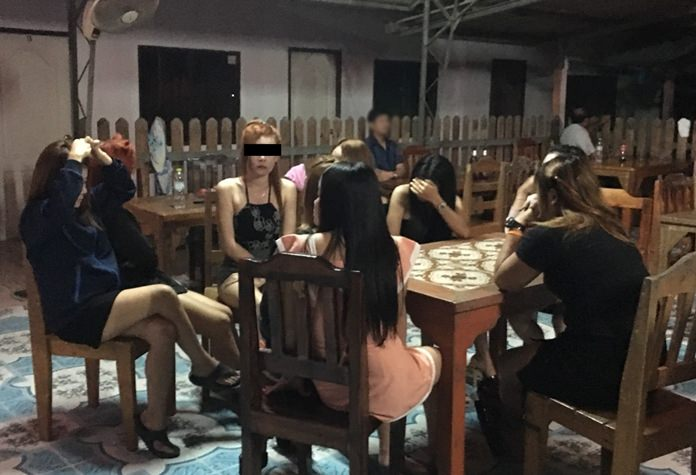 The owner of a Ban Bung District karaoke club faces human trafficking charges after 11 illegal Laotian women were arrested there on prostitution charges.