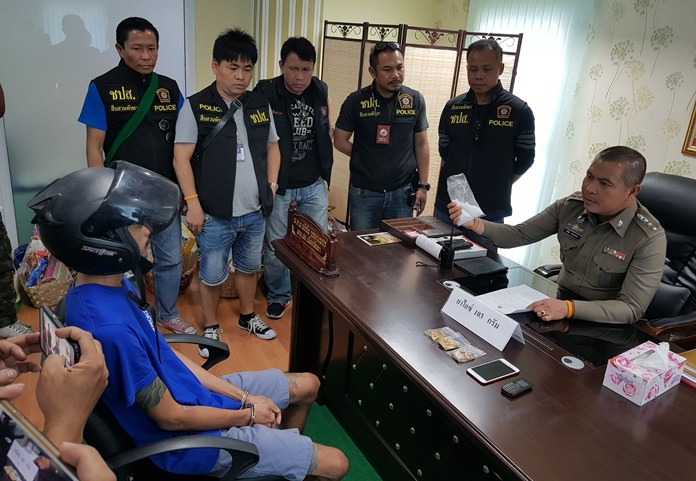 """Authorities arrested Sitthichai """"Poy Wattam"""" Mayam, allegedly in possession of 100 grams of crystal meth."""