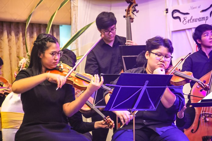 1st violins of the Silpakorn String Orchestra.