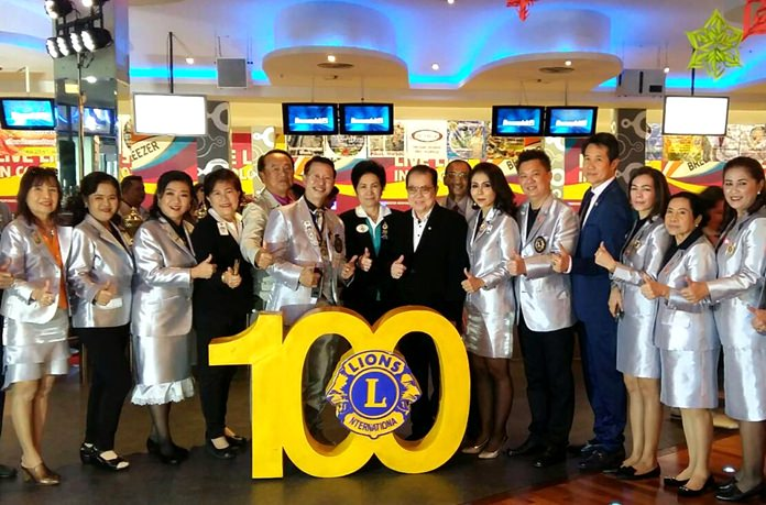Dr. Sansak Jarun Gnampichet, former Minister of Health and Teerachai Antasarnsophon, the president of the Lions Chonburi chaired the opening of the Lion's Club Pratamnak Charity Bowling tournament to raise funds for the less fortunate.