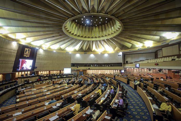 Members of the National Legislative Assembly meet at parliament in Bangkok, Thursday, Jan. 25. (AP Photo)