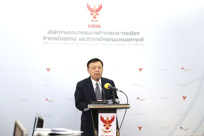 Secretary-General of NBTC, Takorn Tantasith.